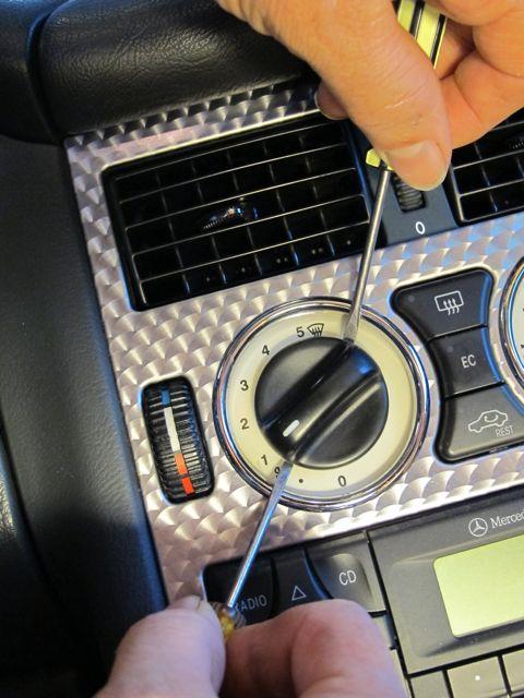 Removing Heater Control Knob
