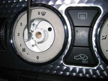 Heater Control Dashboard Bulb