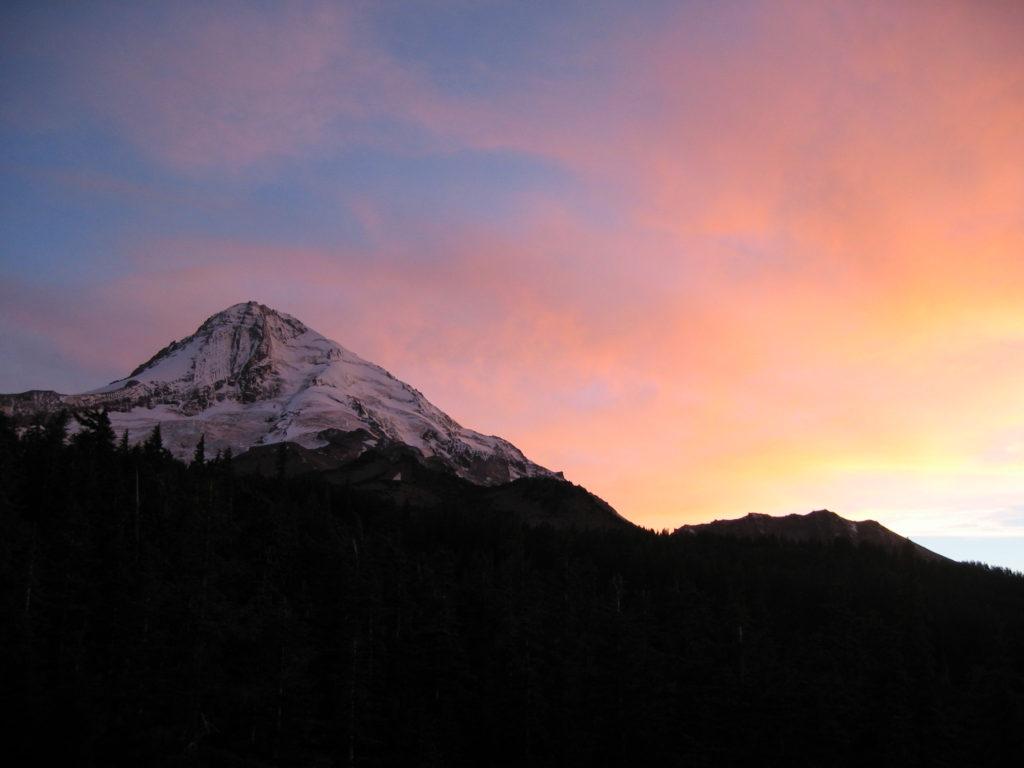 Sunset at Cloud Cap Campground