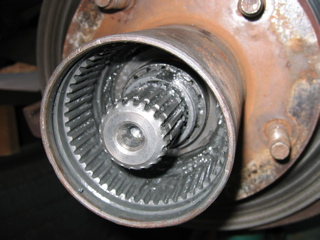 Front bearing nut on 1990 Ford Bronco.